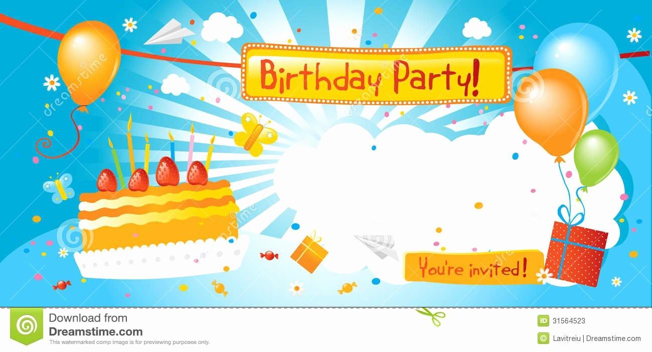 Kids Birthday Party Invite Templates Lovely Boy Birthday Party Invitation