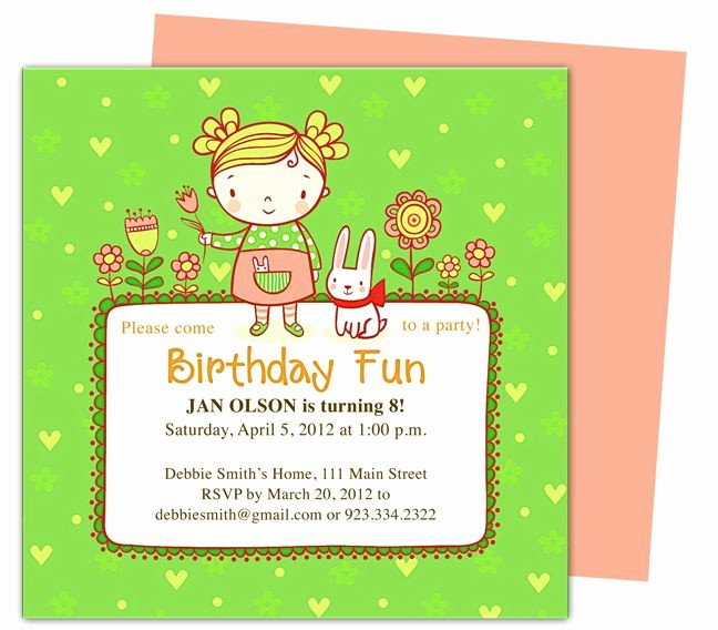 Kids Birthday Party Invite Templates Luxury 23 Best Images About Kids Birthday Party Invitation