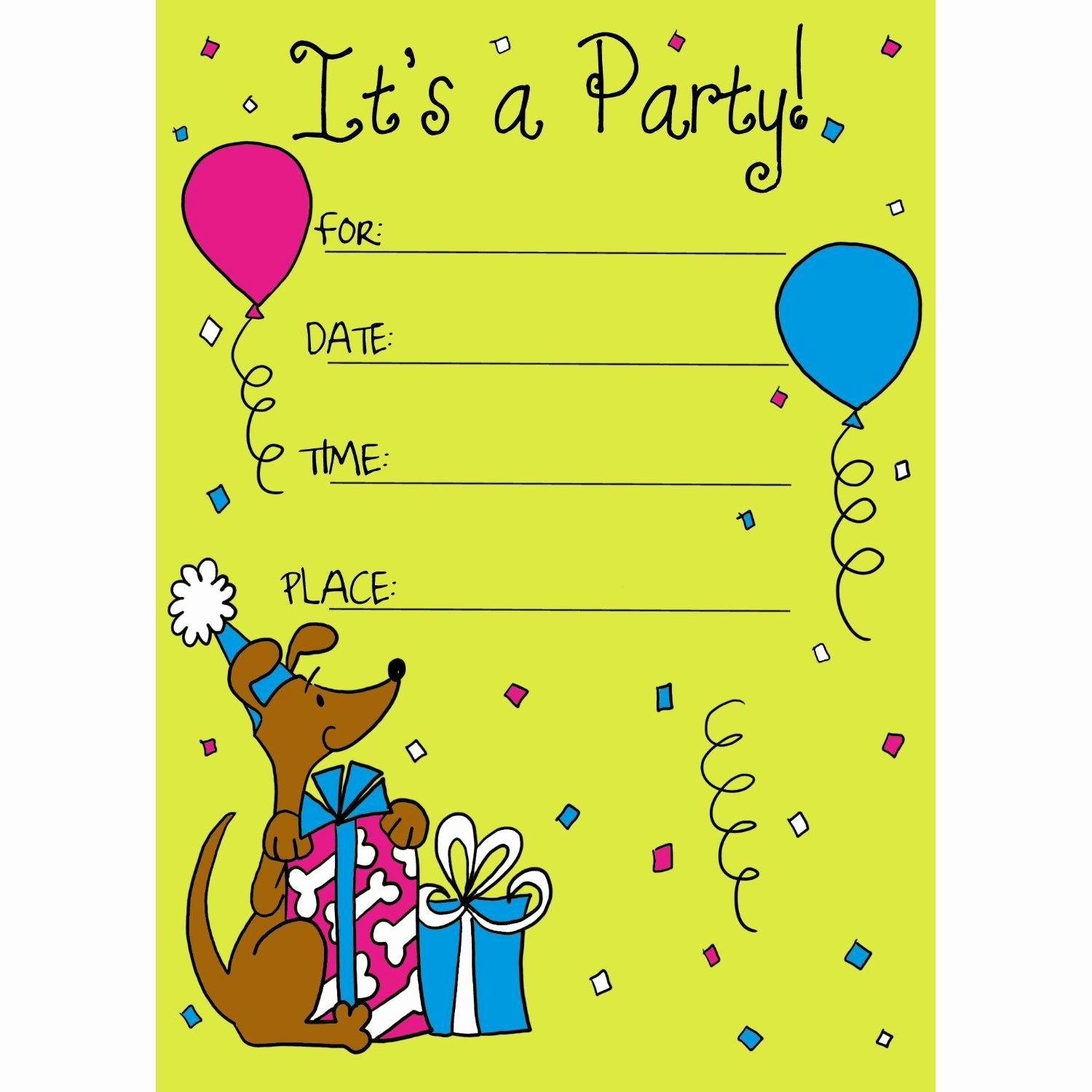 Kids Birthday Party Invite Templates New Birthday Invitation Card for Child
