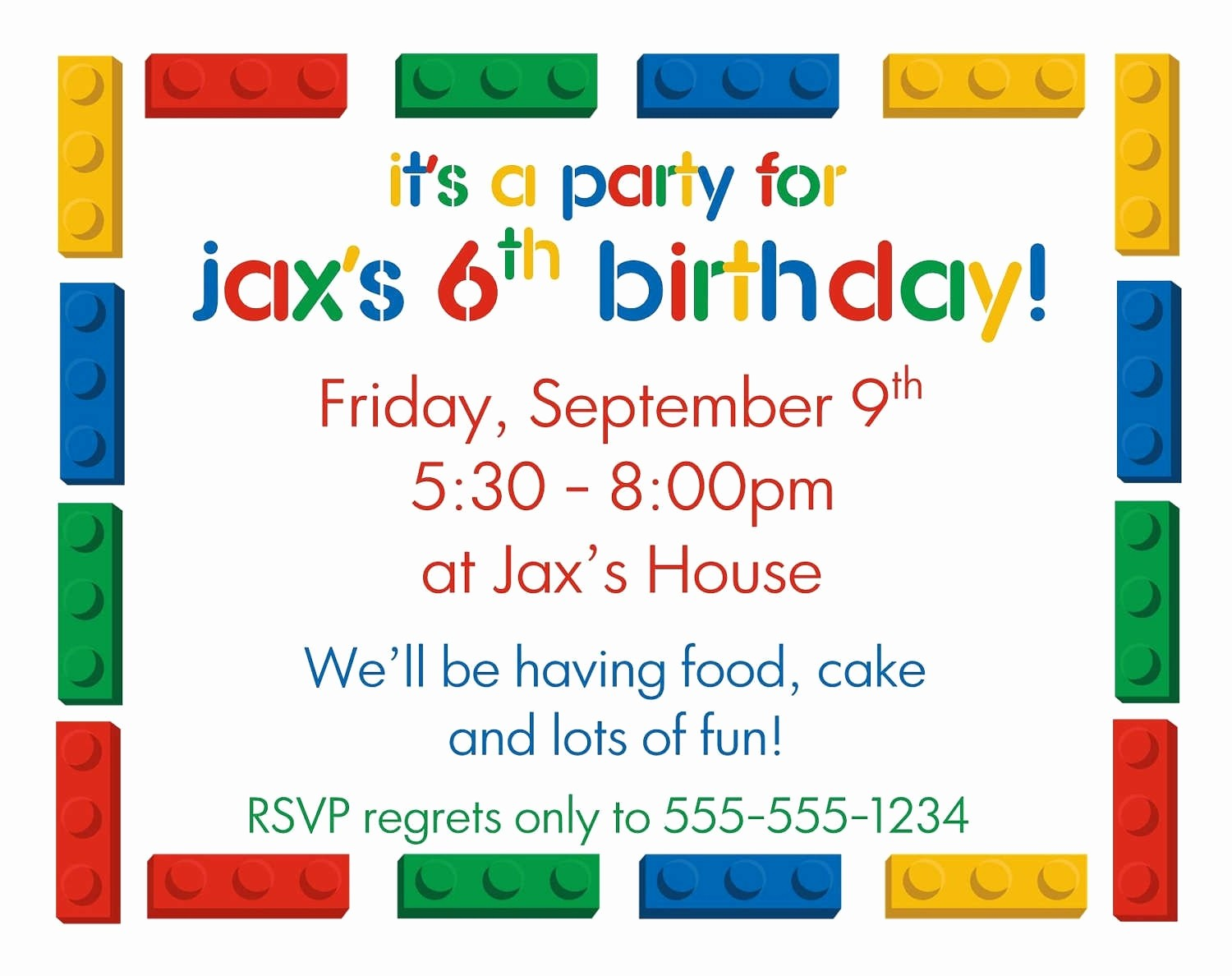 Kids Birthday Party Invite Templates New Birthday Party Invitation Letter for Kids