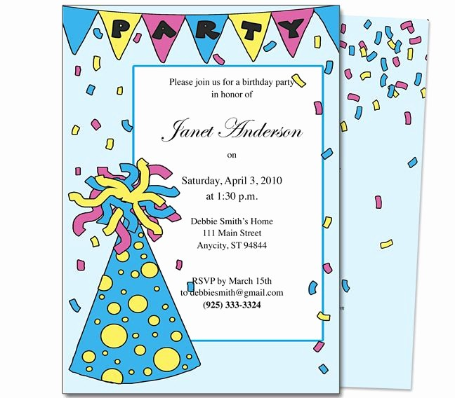 Kids Birthday Party Invites Templates Awesome 23 Best Images About Kids Birthday Party Invitation
