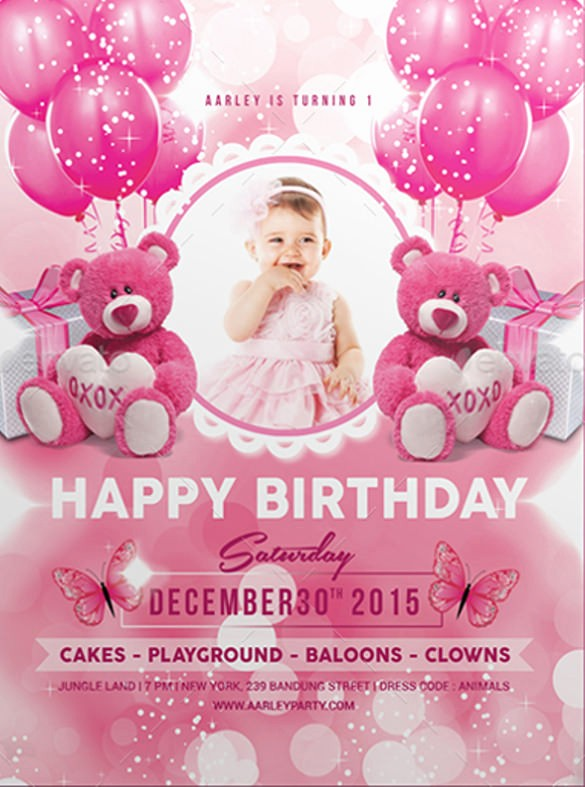Kids Birthday Party Invites Templates Awesome 33 Kids Birthday Invitation Templates Psd Vector Eps