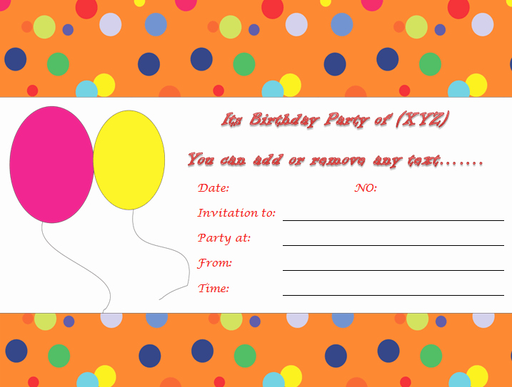 Kids Birthday Party Invites Templates Awesome Birthday Invitation Templates to Print Custom Invitations