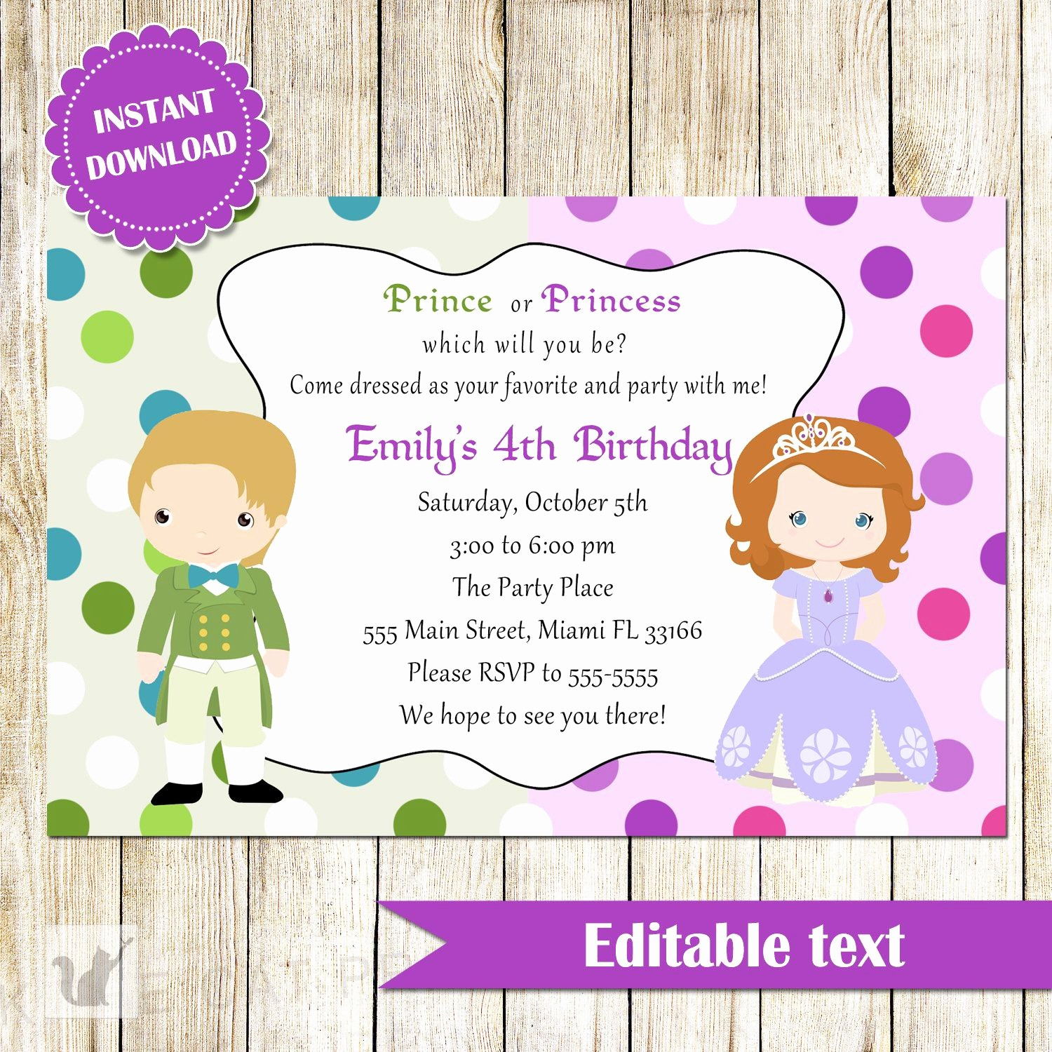 Kids Birthday Party Invites Templates Awesome Childrens Birthday Party Invites toddler Birthday Party