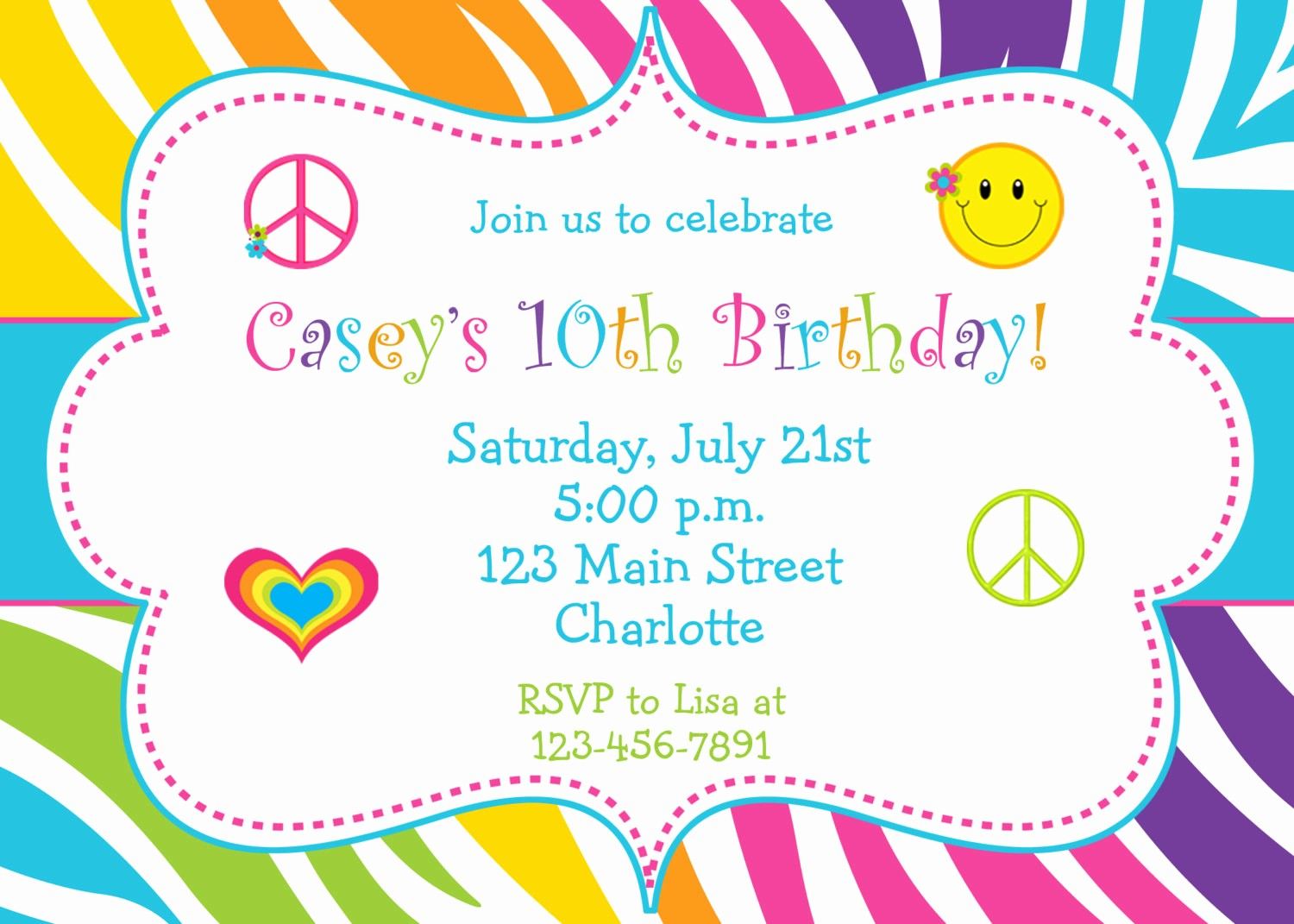 Kids Birthday Party Invites Templates Beautiful 5 Several Different Birthday Invitation Maker