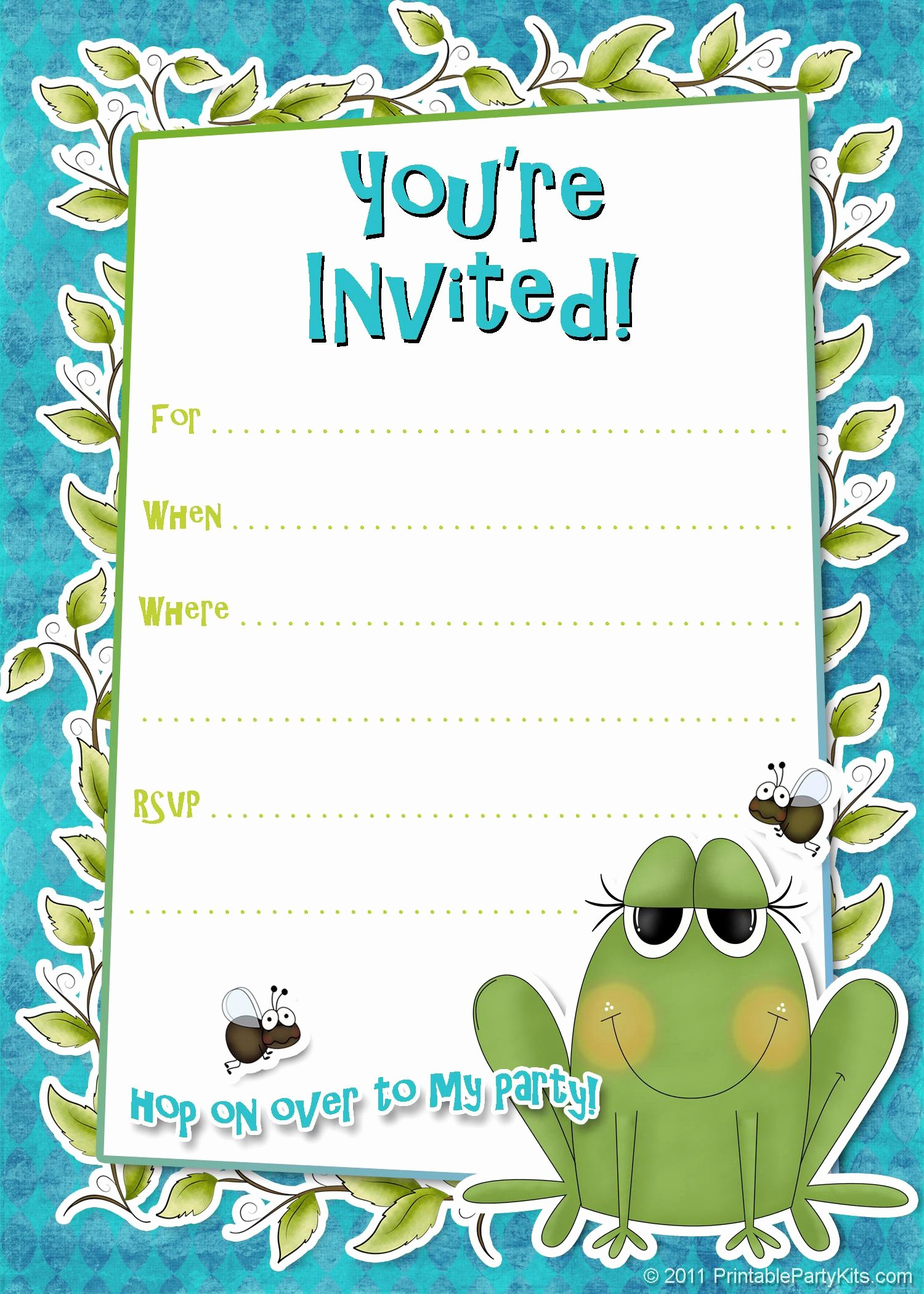 Kids Birthday Party Invites Templates Beautiful Birthday Party Invitation Template Birthday Party