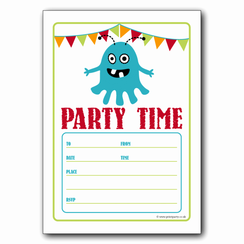 Kids Birthday Party Invites Templates Beautiful Free Birthday Party Invitation Templates for Word