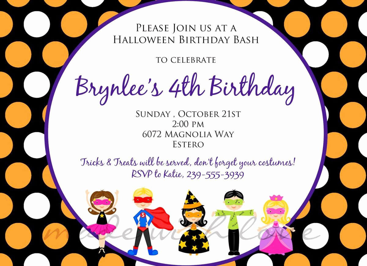 Kids Birthday Party Invites Templates Best Of Birthday Invitations Childrens Birthday Party Invites