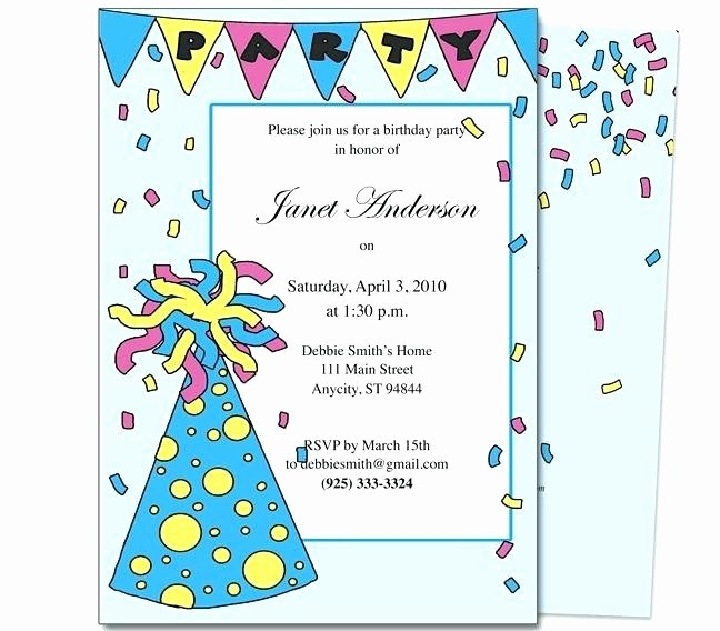 Kids Birthday Party Invites Templates Best Of Kids Birthday Party Invitation Letter Sample Invite