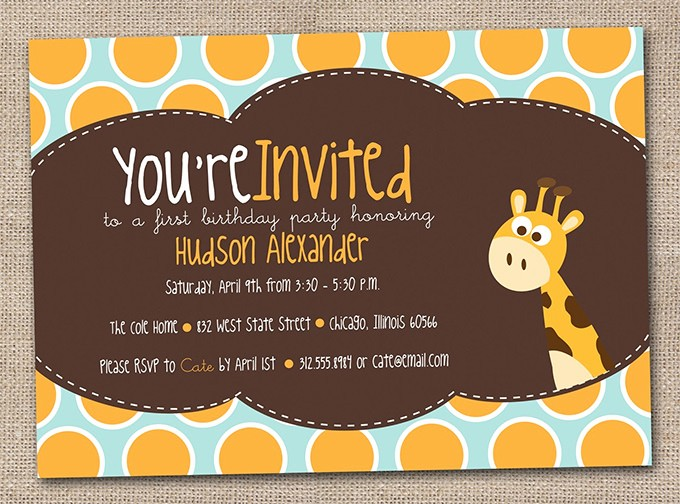 Kids Birthday Party Invites Templates Fresh Kids Invitation Templates – 27 Free Psd Vector Eps Ai