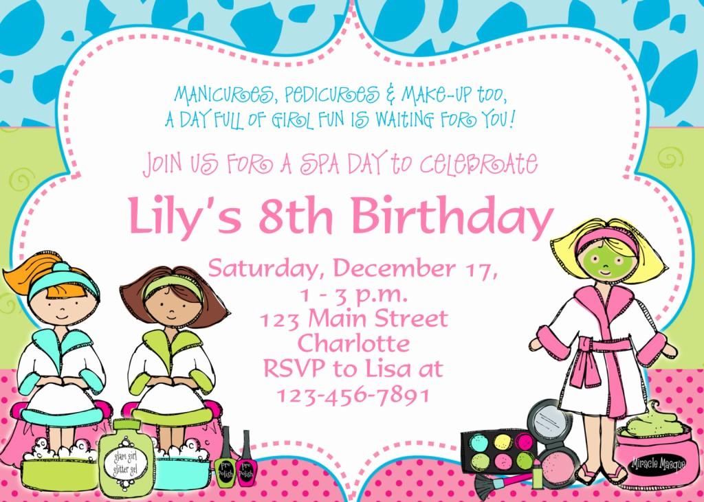 Kids Birthday Party Invites Templates Inspirational Birthday Party Invitation Template – Bagvania Free