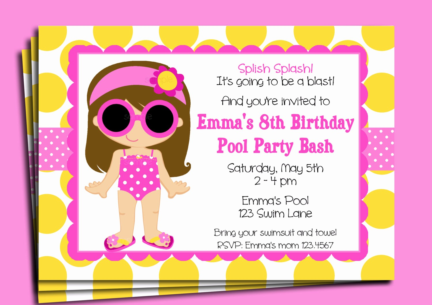 Kids Birthday Party Invites Templates Inspirational Invitation Templates Kids Party