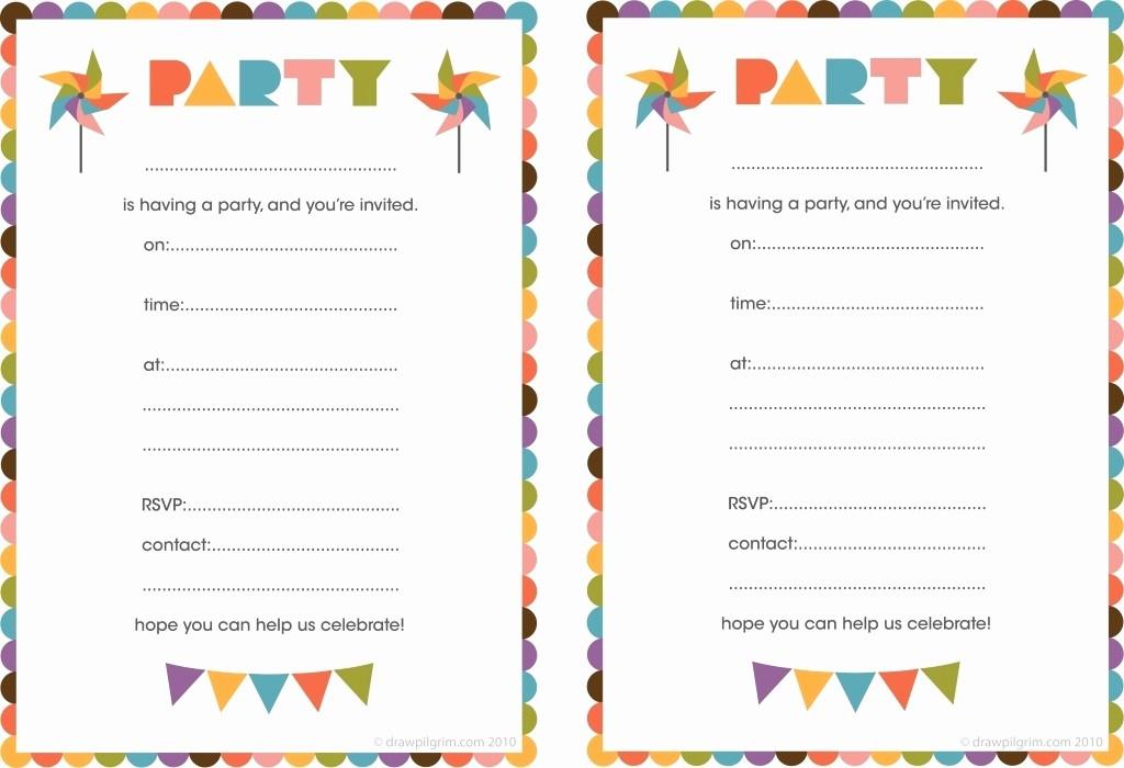 Kids Birthday Party Invites Templates Luxury Blank Birthday Invitations for Boys
