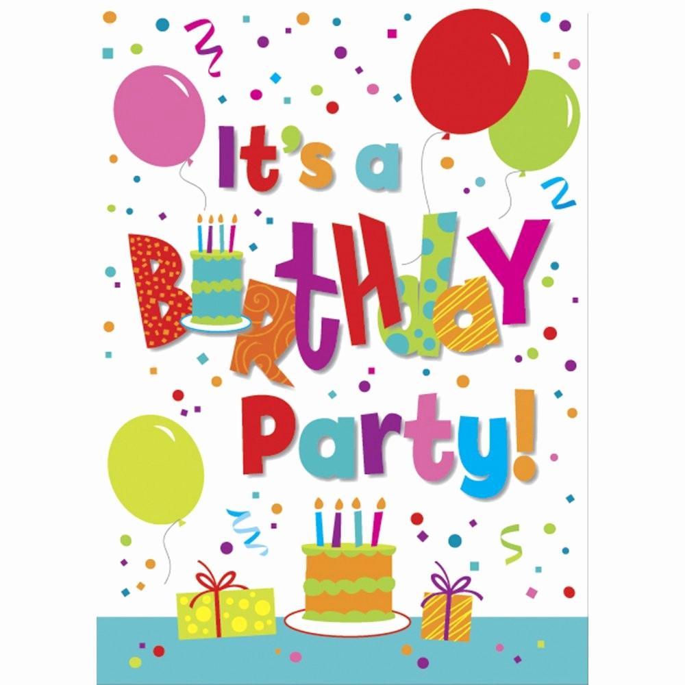 Kids Birthday Party Invites Templates New Kids Birthday Party Invites