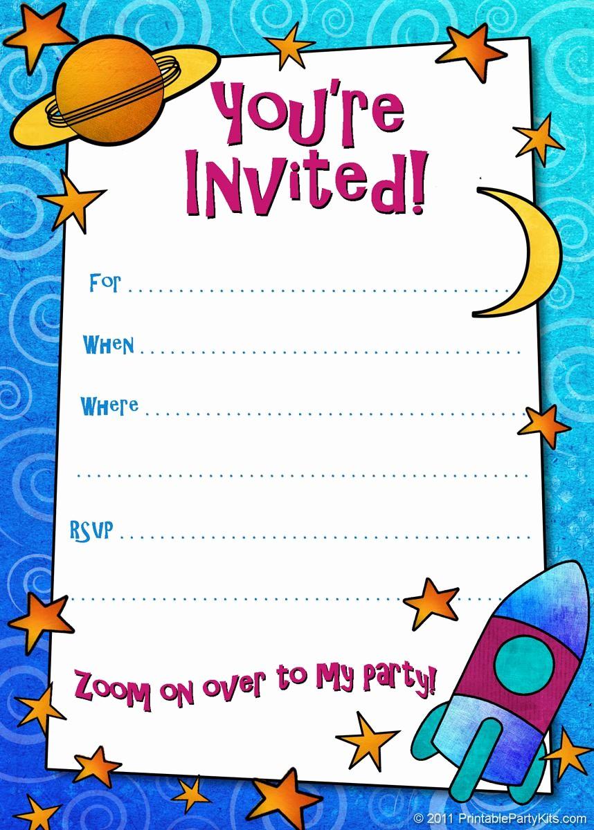 Kids Birthday Party Invites Templates Unique 18 Birthday Invitations for Kids – Free Sample Templates