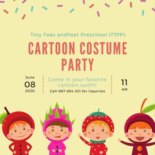 Kids Birthday Party Invites Templates Unique Kids Party Invitation Templates Canva