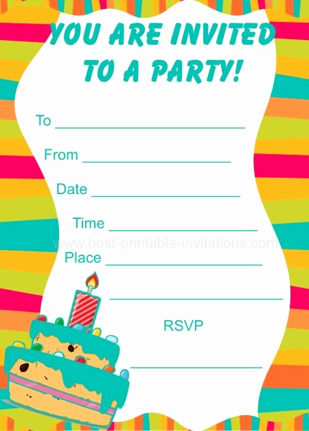 Kids Birthday Party Invites Templates Unique Party Invitations for Kids