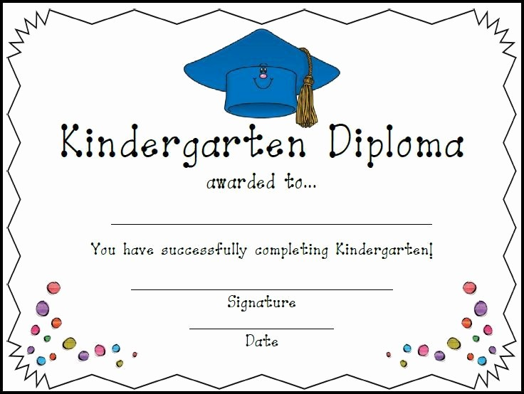 Kindergarten Graduation Diploma Free Printable Beautiful Homeschool Certificates