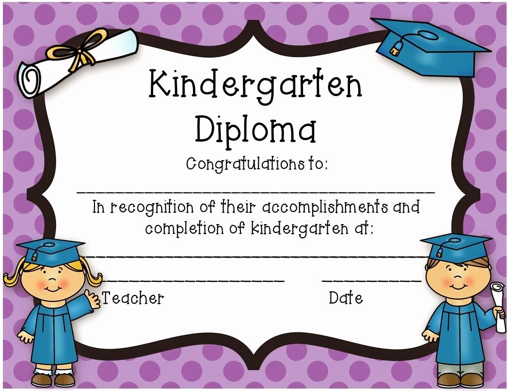 Kindergarten Graduation Diploma Free Printable Beautiful Kindergarten Diploma Freebie