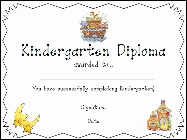 Kindergarten Graduation Diploma Free Printable Beautiful Resources for Teachers and Homeschool Families