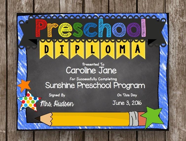Kindergarten Graduation Diploma Free Printable Best Of Off Sale Preschool Diploma Graduation Editable