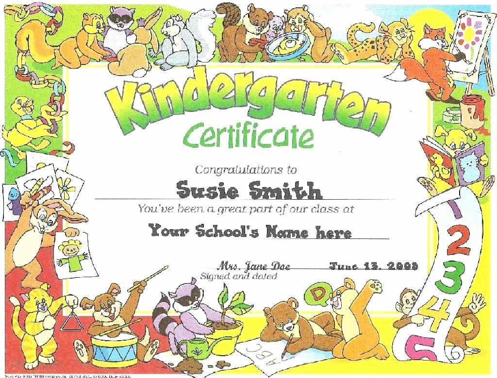 Kindergarten Graduation Diploma Free Printable Best Of Template Printing Template for Kindergarten