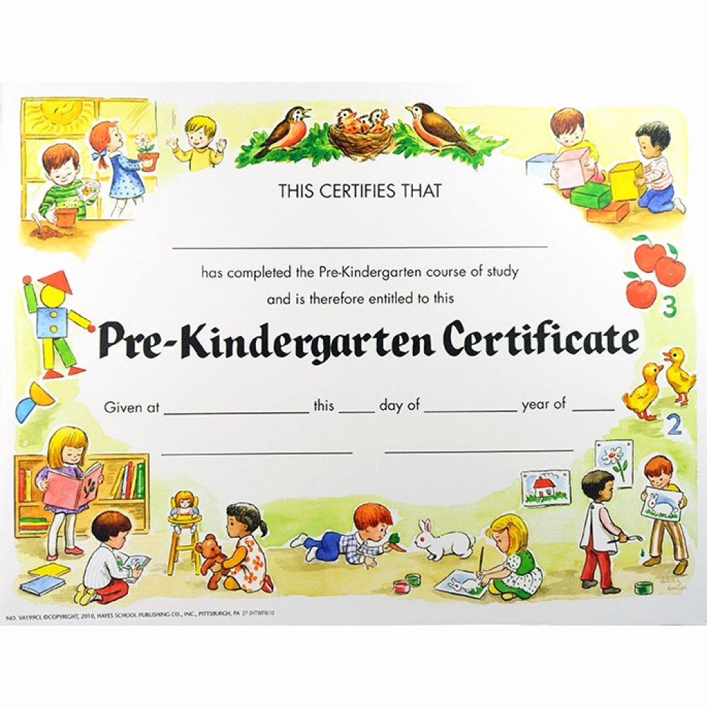 Kindergarten Graduation Diploma Free Printable Elegant End Of Pre K On Pinterest