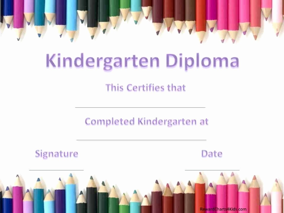 Kindergarten Graduation Diploma Free Printable Fresh Kindergarten Certificates
