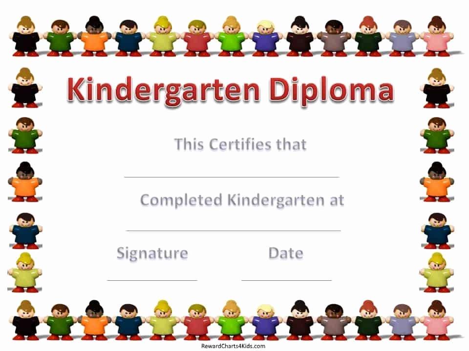 Kindergarten Graduation Diploma Free Printable Fresh Kindergarten Certificates