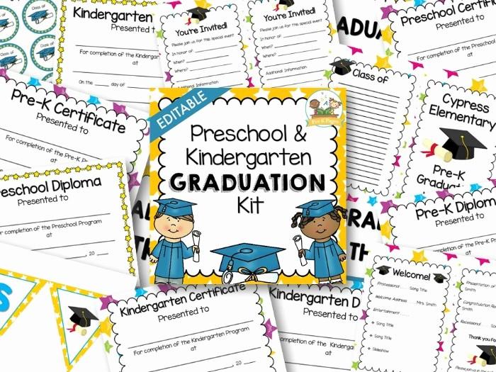 Kindergarten Graduation Diploma Free Printable Fresh Preschool Graduation Kit Pre K Pages