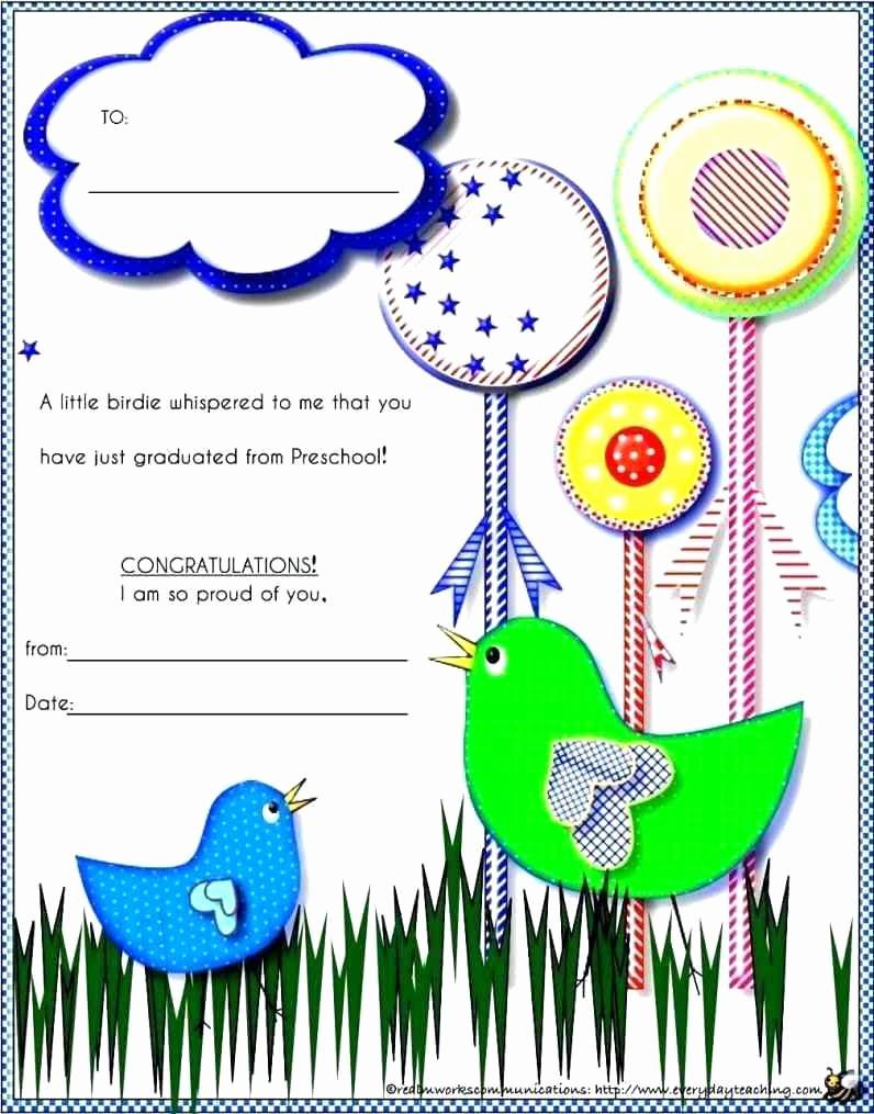 Kindergarten Graduation Diploma Free Printable Inspirational Template Preschool Graduation Template