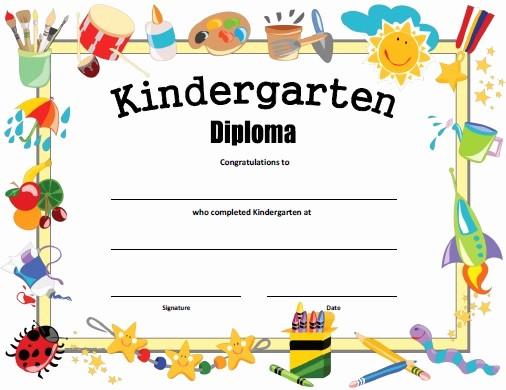 Kindergarten Graduation Diploma Free Printable Lovely Kindergarten Diploma Free Printable Allfreeprintable