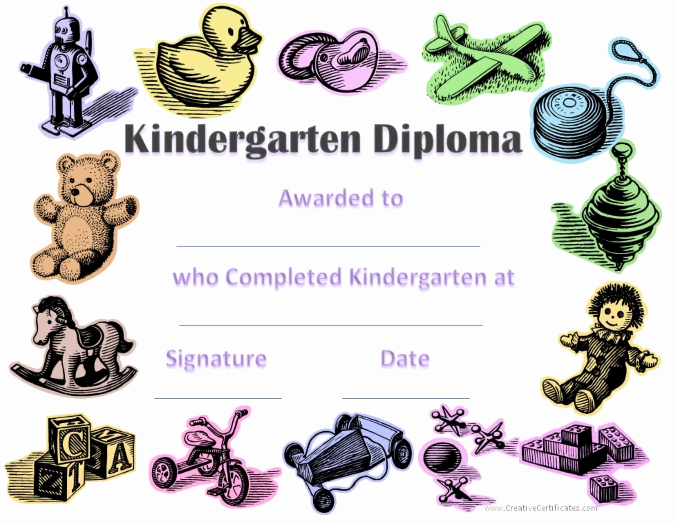Kindergarten Graduation Diploma Free Printable Luxury Free Custom Kindergarten Graduation Certificates