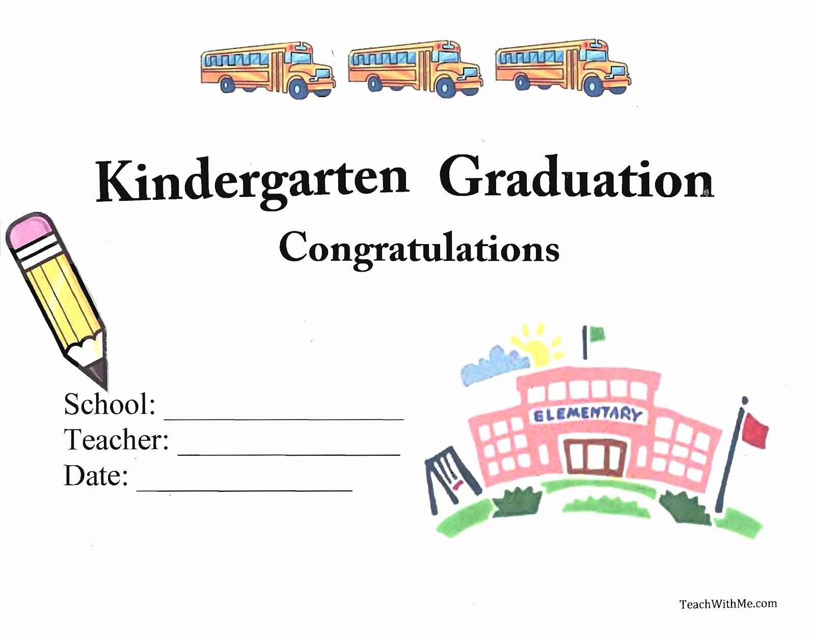 Kindergarten Graduation Diploma Free Printable Luxury Printable Kindergarten Graduation Template D Templates