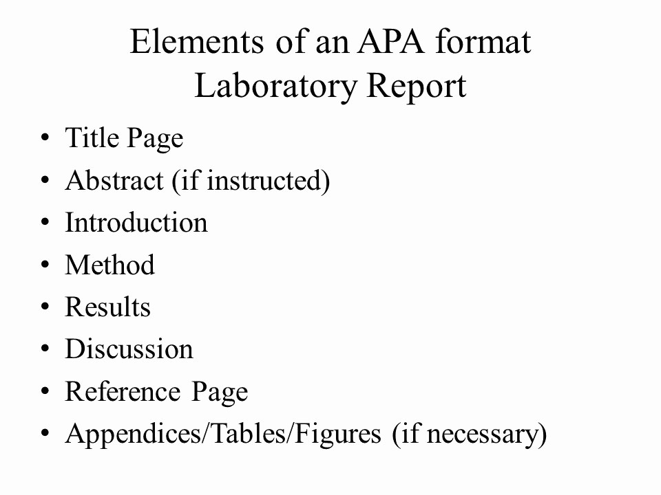 Lab Report Cover Page Apa Inspirational Apa format Basics and Introduction Ppt Video Online