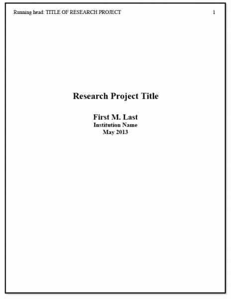 Lab Report Cover Page Apa Luxury Annotated Bibliography Example Apa Heading