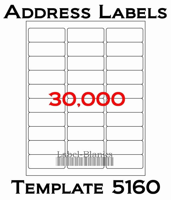 Label Templates 30 Per Page Elegant Laser Ink Jet Labels 1000 Sheets 1 X 2 5 8
