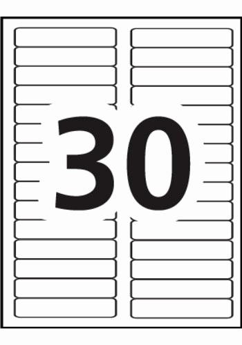 Label Templates 30 Per Page Fresh Avery Filing Labels 5066 Template 30 Labels Per Sheet
