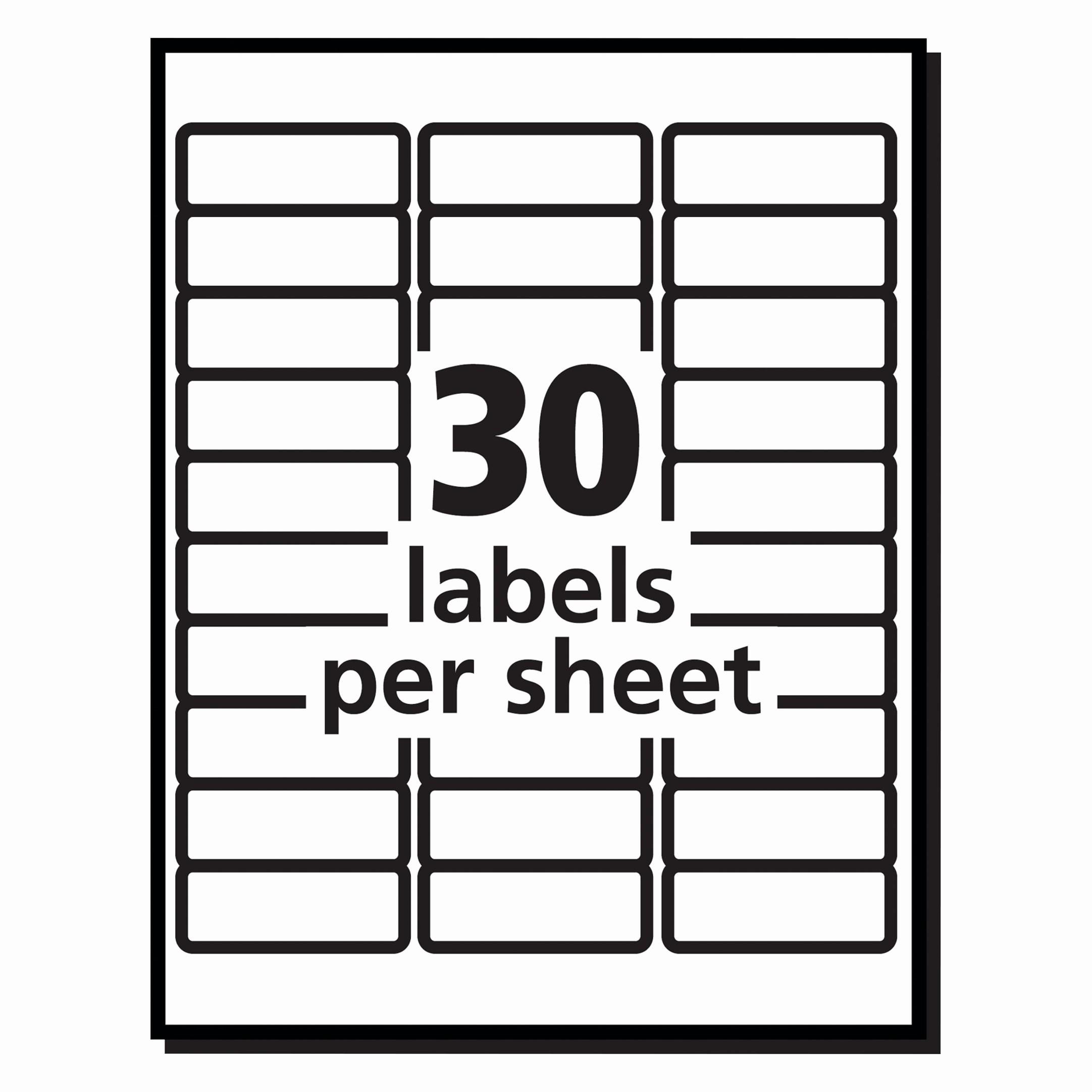 Label Templates 30 Per Page Fresh Elegant Free Printable Return Address Labels
