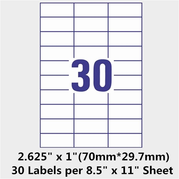 Label Templates 30 Per Page Inspirational Avery Address Label Template 30 Per Sheet