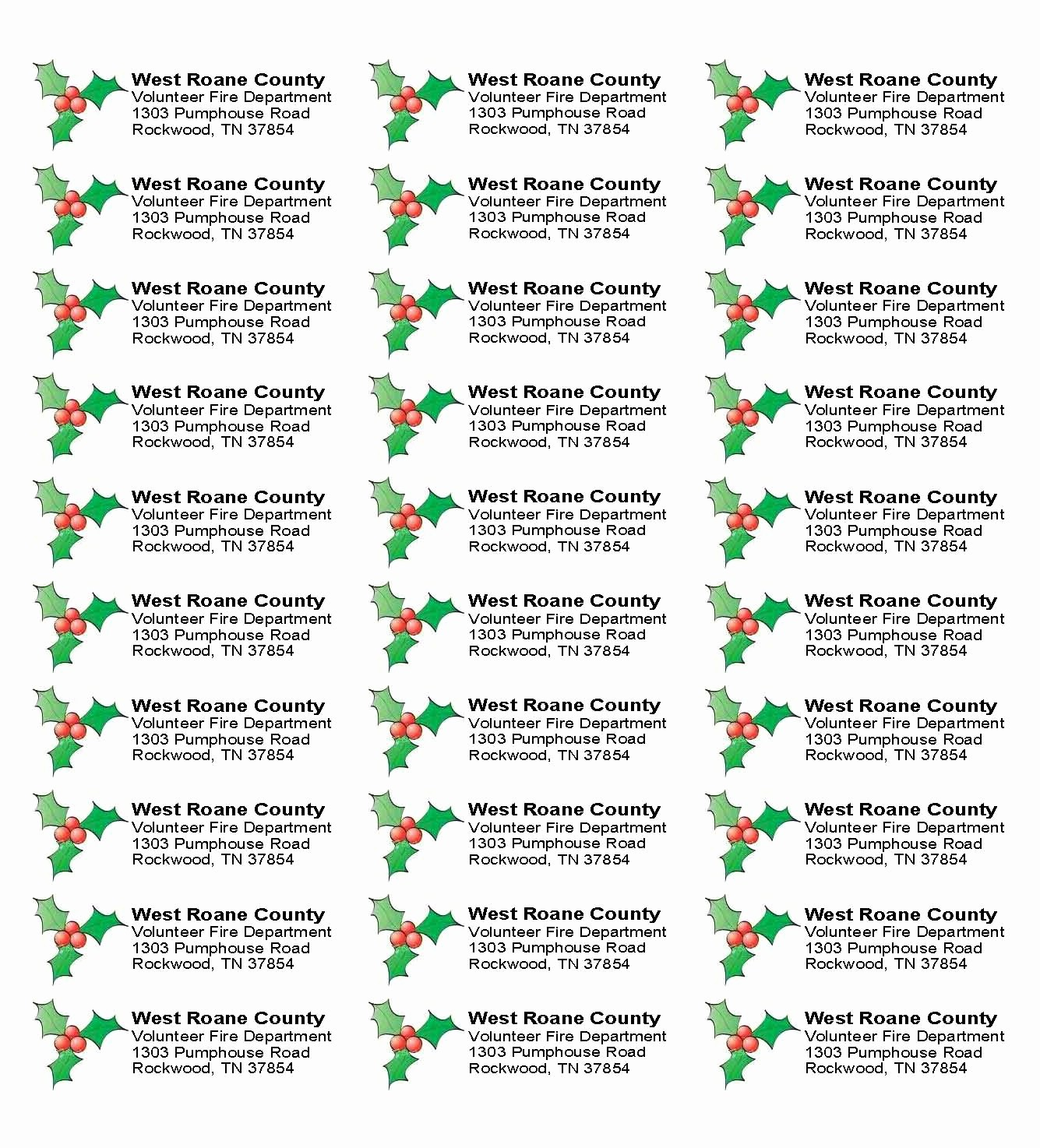 Label Templates 30 Per Page Inspirational Free Christmas Return Address Label Templates 30 Per Sheet