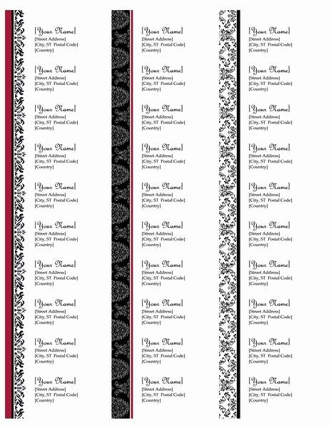 Label Templates 30 Per Page Unique Return Address Labels Black and White Wedding Design