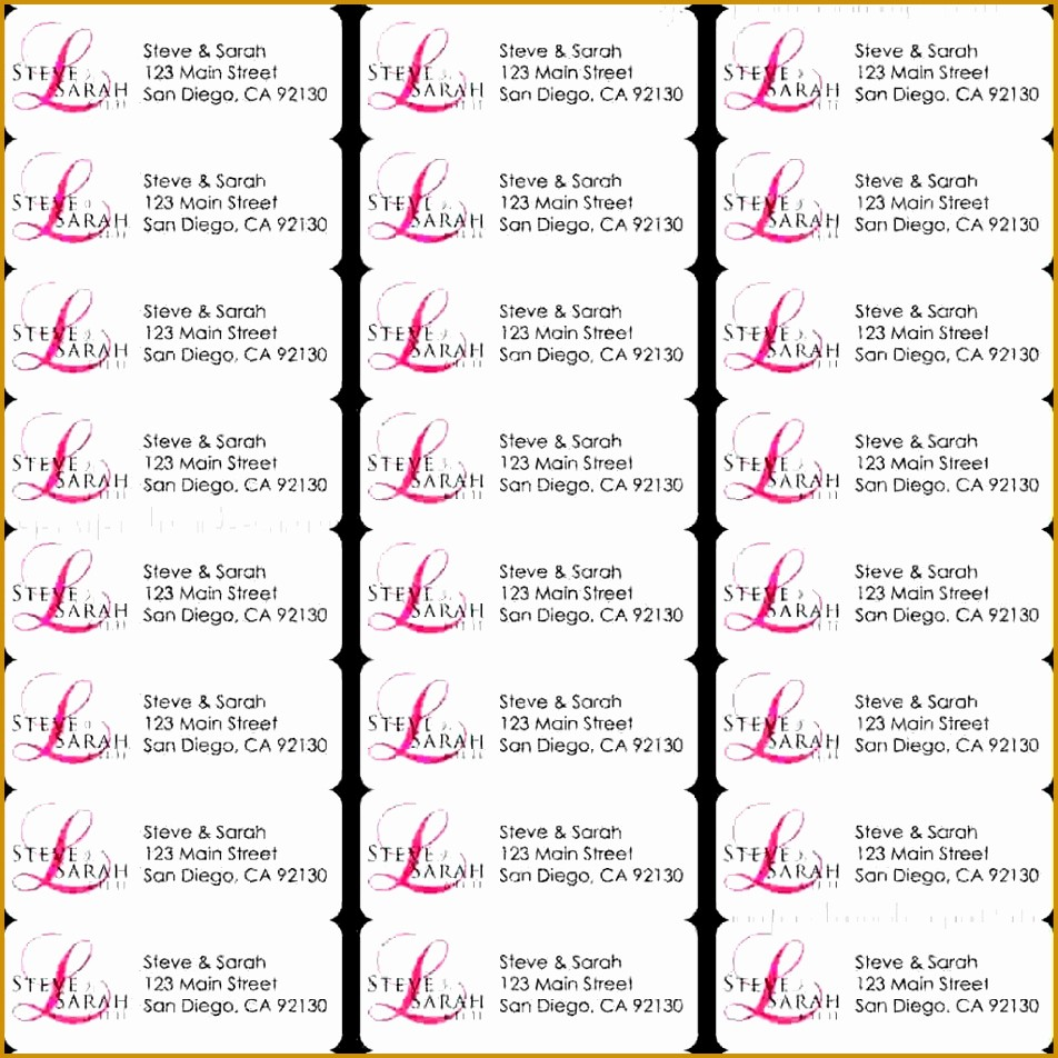 Labels 30 Per Page Template Beautiful 3 Template for Address Labels 30 Per Sheet