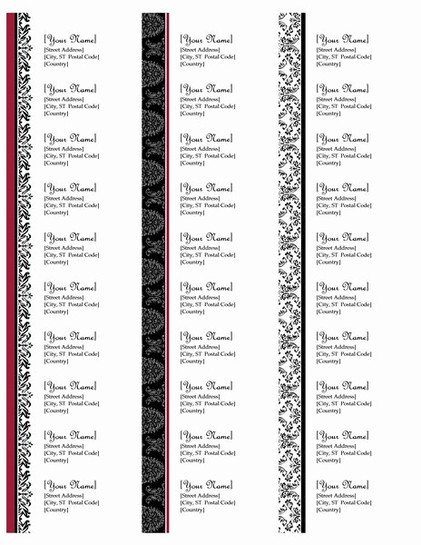 Labels 30 Per Page Template Elegant Return Address Labels Black and White Wedding Design