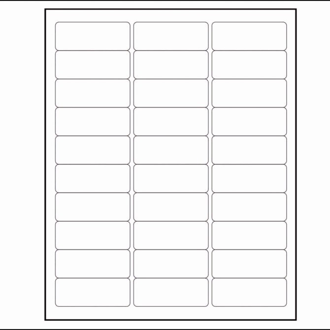 Labels 30 Per Page Template Fresh Labels Per Sheet Template Excel Avery Xerox Address
