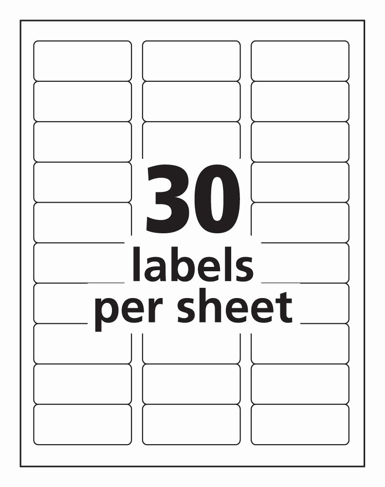 Labels 30 Per Page Template Luxury 30 Labels Per Sheet Template Free Templates Resume