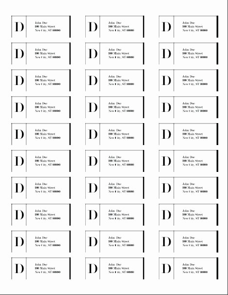 Labels 30 Per Page Template New Free Mailing Label Template Printable Return Address