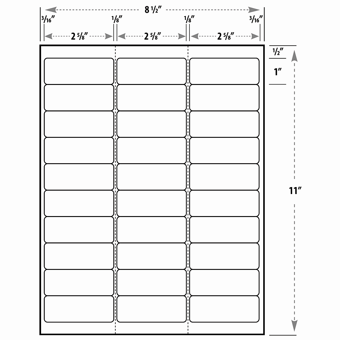 Labels Template 30 Per Sheet Awesome Address Label Template Example Mughals