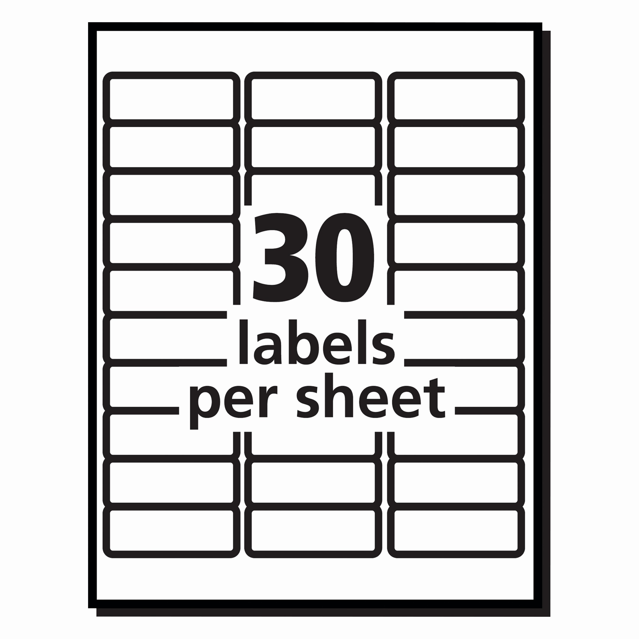 Labels Template 30 Per Sheet New Elegant Free Printable Return Address Labels