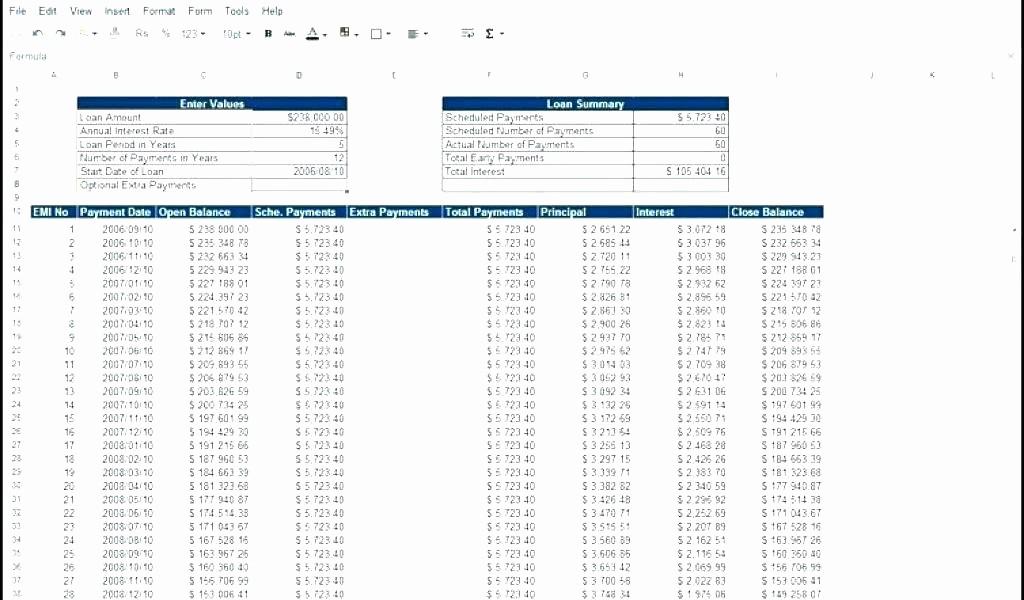 Lease Payment Calculator Excel Template Elegant Lease Calculator Spreadsheet Lease Amortization Schedule